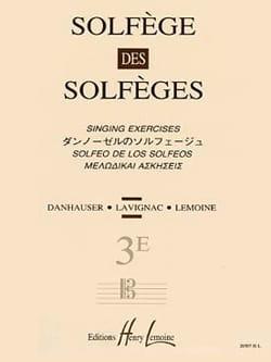Volume 3E S/A - Solfège des Solfèges Lavignac Partition laflutedepan
