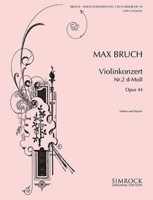 Violinkonzert D-Moll n° 2 op. 44 BRUCH Partition laflutedepan