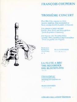 Troisième Concert - Flûte à bec et bc COUPERIN Partition laflutedepan