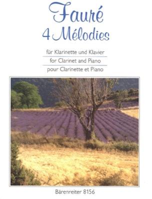 4 Mélodies. arrangées pour clarinette et piano FAURÉ laflutedepan