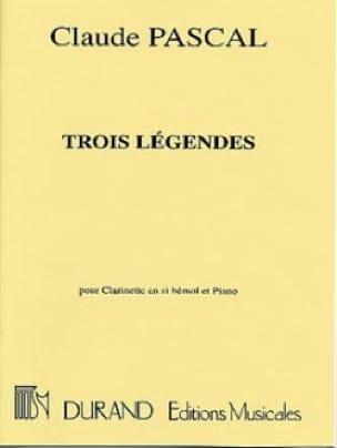 3 Légendes - Claude Pascal - Partition - laflutedepan.com