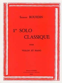 1er Solo classique Suzanne Bourdin Partition Violon - laflutedepan