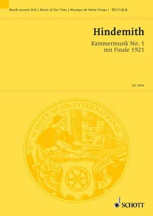 Kammermusik Nr. 1 mit Finale 1921 op. 24 n° 1 - Partitur laflutedepan