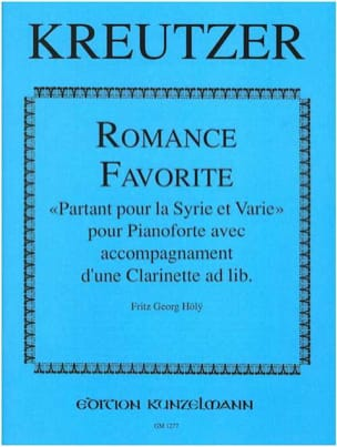 Romance favorite Conradin Kreutzer Partition Clarinette - laflutedepan