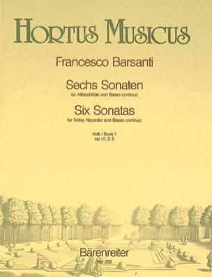 6 Sonaten - Heft 1 - Altblockflöte u. Bc laflutedepan