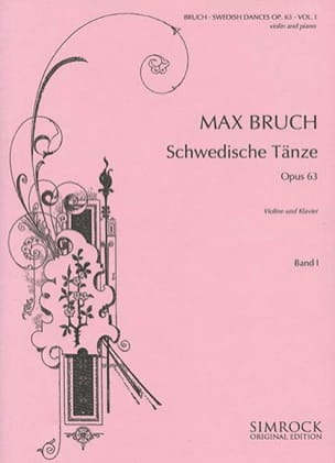 Max Bruch - Swedish dances op. 63 Volume 1 - Partition - di-arezzo.co.uk