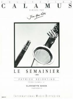 Le semainier Patrice Sciortino Partition Clarinette - laflutedepan