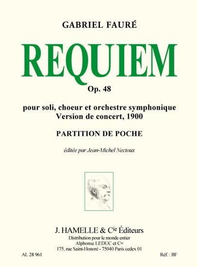 Requiem op. 48 - Version 1900 - Conducteur - FAURÉ - laflutedepan.com