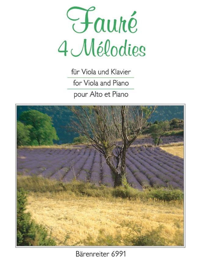 4 Mélodies - FAURÉ - Partition - Alto - laflutedepan.com