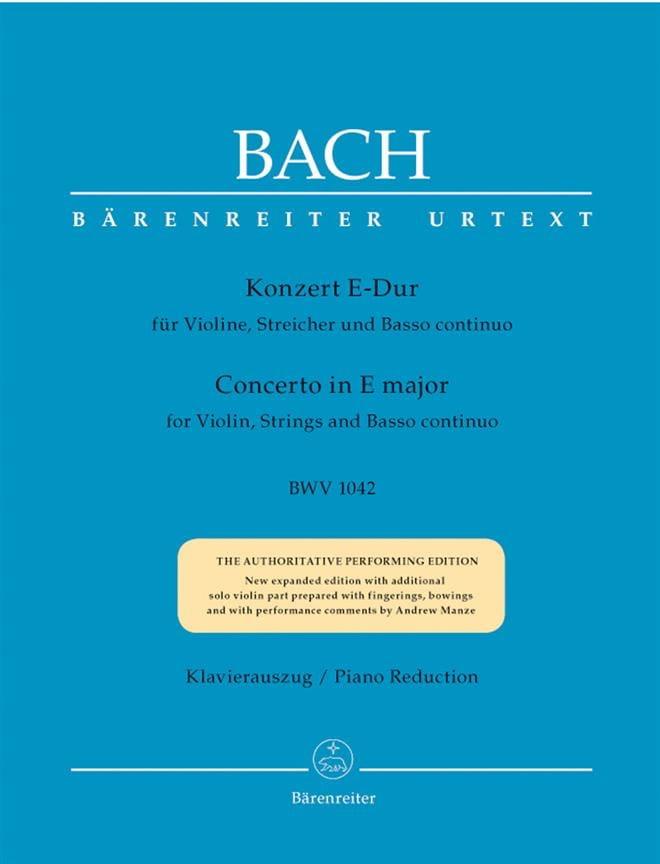 Concerto en Mi Majeur BWV 1042 - BACH - Partition - laflutedepan.com