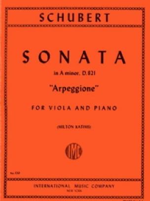 Sonate Arpeggione, la mineur D.821 - Alto - laflutedepan.com