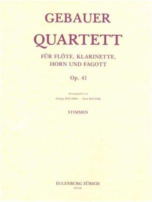 Quartett op. 41 - Flöte Klarinette Horn Fagott - Stimmen laflutedepan