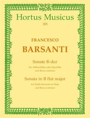 Sonate B-Dur - Altblockflöte Querflöte Francesco Barsanti laflutedepan
