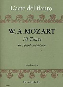18 Tänze - 2 Flöten Violinen MOZART Partition laflutedepan