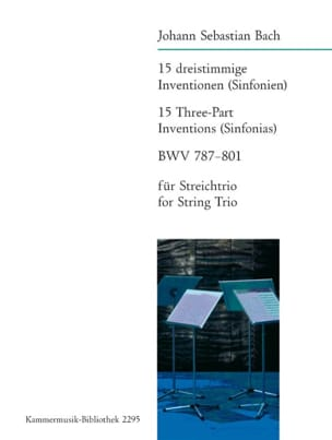 15 Inventions Sinfonies BWV 787-801 BACH Partition laflutedepan