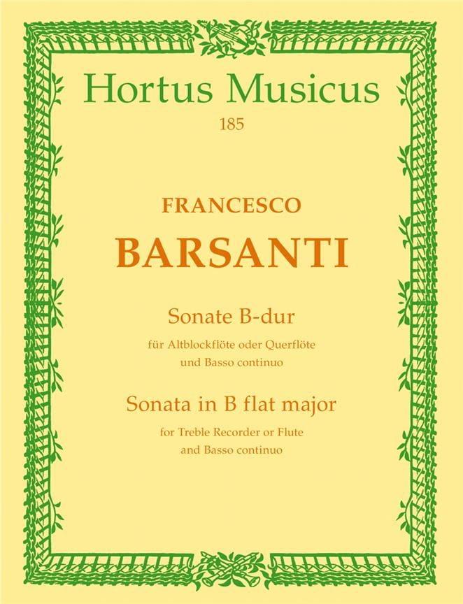 Sonate B-Dur - Altblockflöte Querflöte - laflutedepan.com