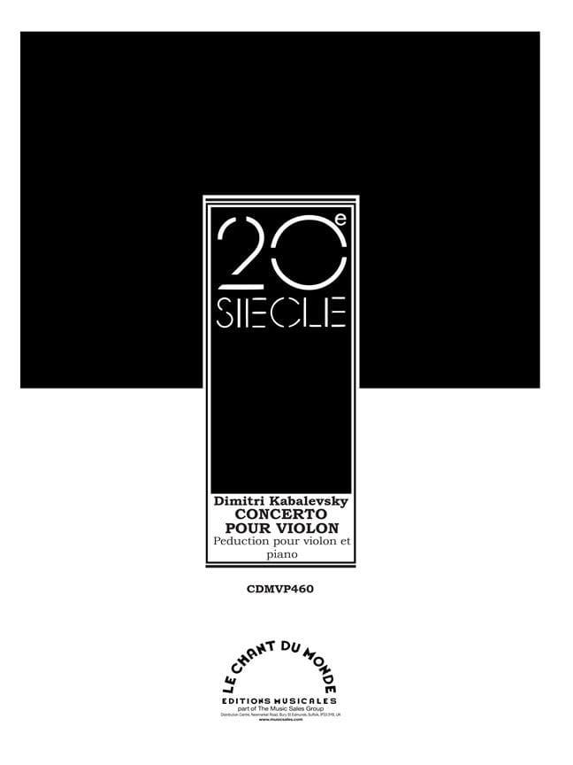 Concerto pour Violon Opus 48 - Dimitri Kabalevski - laflutedepan.com