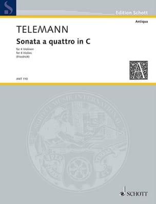 Sonata a quattro in C TELEMANN Partition Violon - laflutedepan