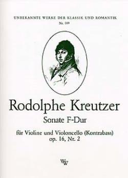 Sonate F-Dur op. 16 n° 2 Rodolphe Kreutzer Partition 0 - laflutedepan