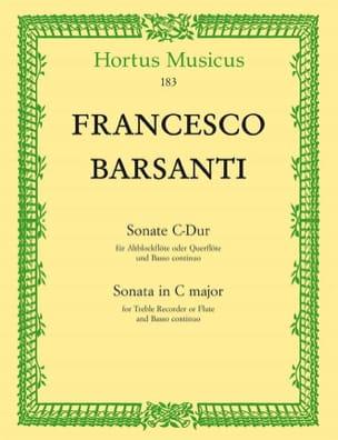 Sonate en Do Maj. Francesco Barsanti Partition laflutedepan