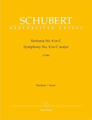 SCHUBERT - Symphonie N° 8 C-Dur D 944 - Partitur - Partition - di-arezzo.fr