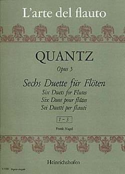 6 Duette op. 5 - Heft 1 - 2 Flöten QUANTZ Partition laflutedepan