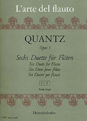 6 Duette op. 5 - Heft 1 - 2 Flöten - QUANTZ - laflutedepan.com