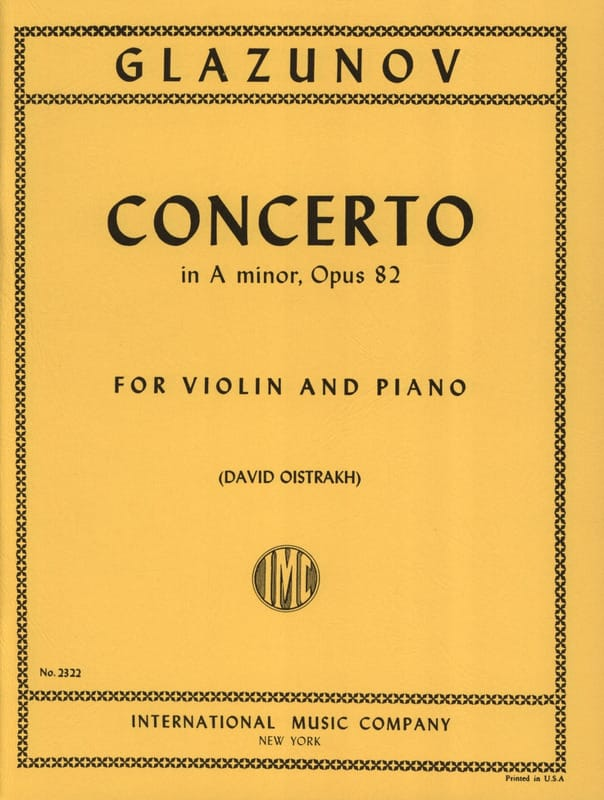 Concerto op. 82 - Alexandre Glazounov - Partition - laflutedepan.com