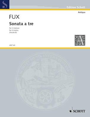 Sonata a tre Johann Josef Fux Partition Violon - laflutedepan