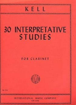 30 Interpretative Studies Reginald Kell Partition laflutedepan
