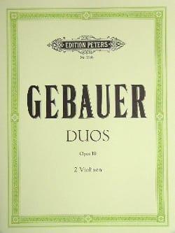 Duos op. 10 Michel Joseph Gebauer Partition Violon - laflutedepan