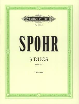 3 Duos op. 67 SPOHR Partition Violon - laflutedepan