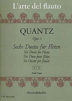 6 Duette op. 5, Nr. 4-6 - 2 Flöten QUANTZ Partition laflutedepan