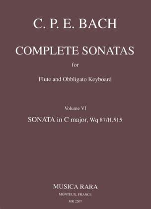 Complete sonatas - Volume 6 - Flute Clavecin (Epuisé) laflutedepan