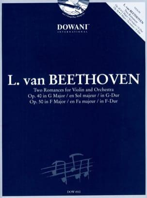 2 Romances op. 40 et op. 50 BEETHOVEN Partition Violon - laflutedepan