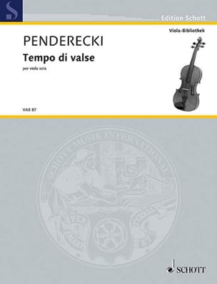 Tempo di valse - PENDERECKI - Partition - Alto - laflutedepan.com