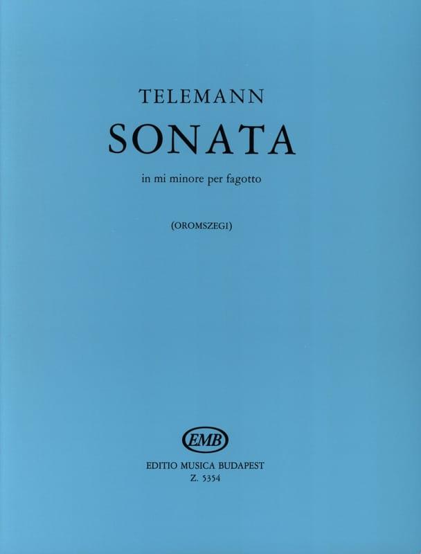 Sonata in mi minore per fagotto - TELEMANN - laflutedepan.com