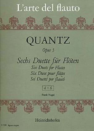 6 Duette op. 5, Nr. 4-6 - 2 Flöten - QUANTZ - laflutedepan.com