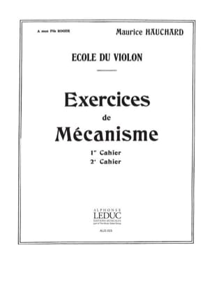 Maurice Hauchard - Volume 2 Mechanism Exercises - Partition - di-arezzo.es