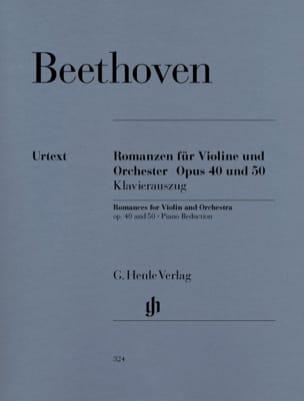 Romances en Sol majeur op. 40 et en Fa majeur op. 50 pour violon et orchestre laflutedepan