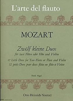 12 Kleine Duos - 2 Flöten o. Flöte und Violine MOZART laflutedepan