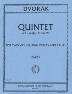 Quintet in E flat major op. 97 - Parts DVORAK Partition laflutedepan