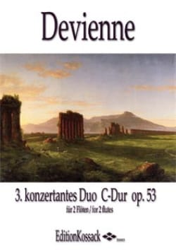 Duo Concertant en Ut Maj. Op.53 n°3 DEVIENNE Partition laflutedepan