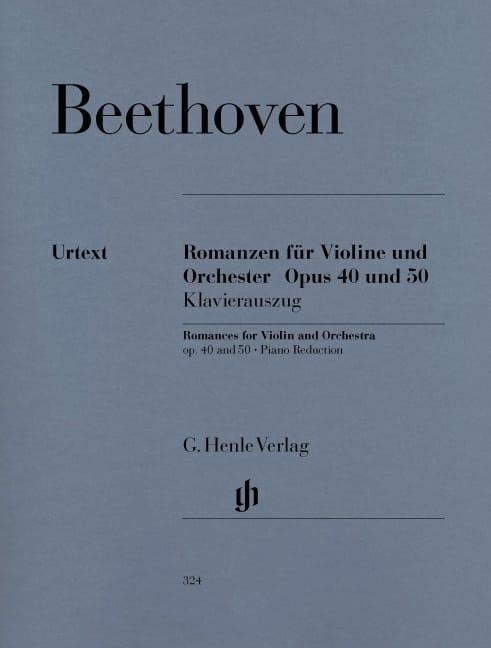 Romances en Sol majeur op. 40 et en Fa majeur op. 50 pour violon et orchestre - laflutedepan.com