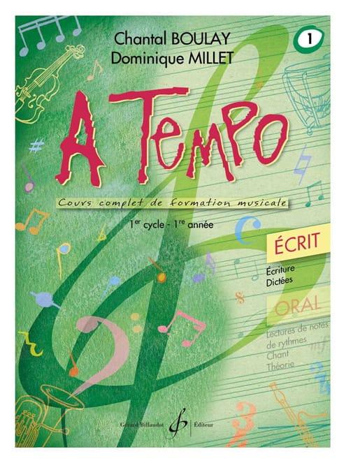 A Tempo Volume 1 - Ecrit - BOULAY - MILLET - laflutedepan.com