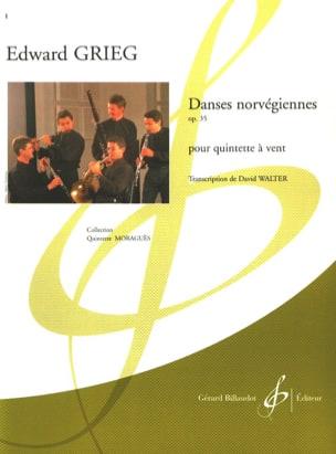 Danses norvégiennes op. 35 -Quintette à vent GRIEG laflutedepan
