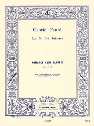 Gabriel Fauré - Romance Without Words Op. 17 N ° 3 - Partition - di-arezzo.it