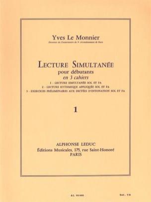 Lecture simultanée - Volume 1 Monnier Yves Le Partition laflutedepan