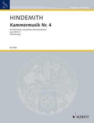 Kammermusik Nr. 4 op. 36 n° 3 HINDEMITH Partition laflutedepan