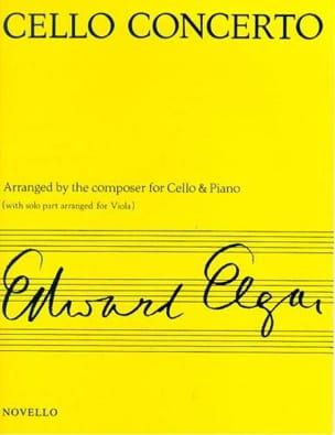 Cello Concerto op. 85 - Viola ELGAR Partition Alto - laflutedepan